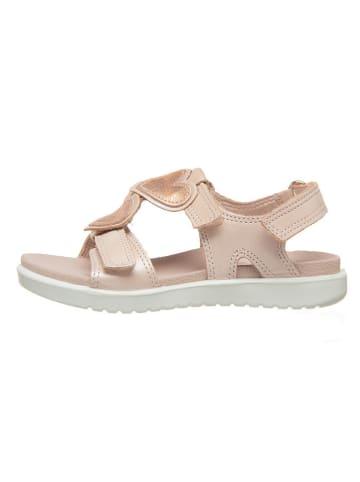 """Ecco Skórzane sandały """"Flora"""" w kolorze jasnoróżowym"""