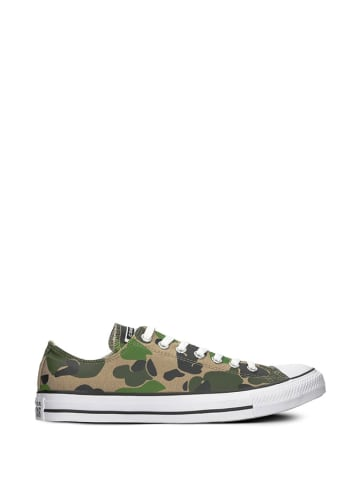 Converse Sneakersy w kolorze khaki ze wzorem