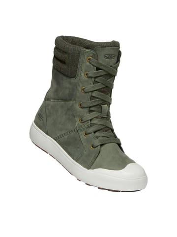 Keen Leder-Boots in Khaki