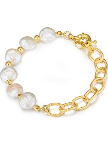 KAIMANA Vergold. Armkette mit Perlen