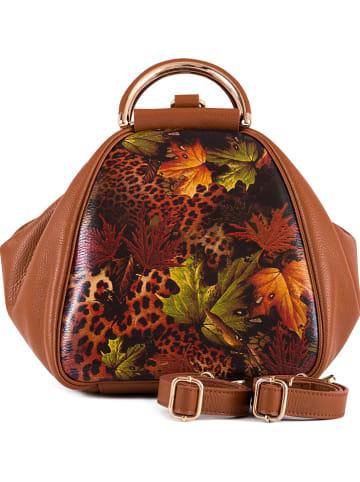 Lia Biassoni Skórzany plecak w kolorze jasnobrązowym - 27 x 30 x 25 cm
