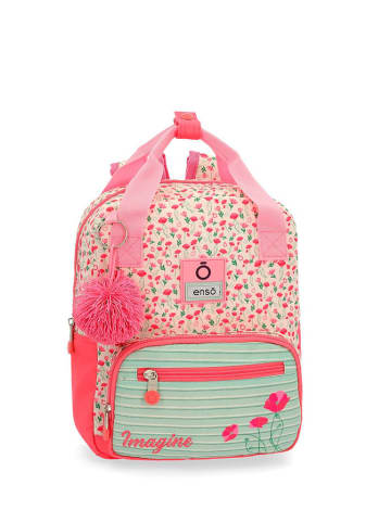 Enso Rucksack in Pink/ Bunt - (B)23 x (H)28 x (T)10 cm