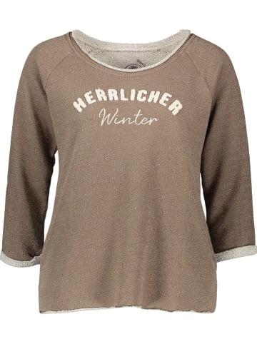 """Herrlicher Sweatshirt """"Benice"""" lichtbruin"""