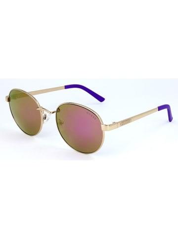 Guess Damen-Sonnenbrille in Gold/ Pink-Grün