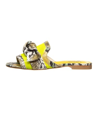 Cinque Klapki w kolorze żółtym ze wzorem