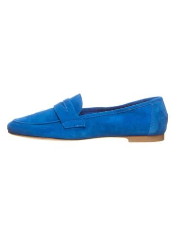 Cinque Skórzane slippersy w kolorze niebieskim