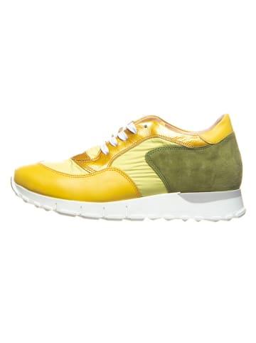 Cinque Sneakersy w kolorze żółto-zielonym