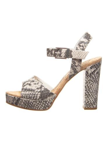 Cinque Skórzane sandały w kolorze szaro-beżowym
