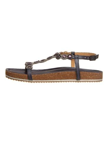Cinque Leren sandalen donkerblauw/violet