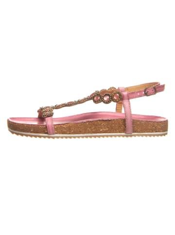Cinque Leren sandalen roze