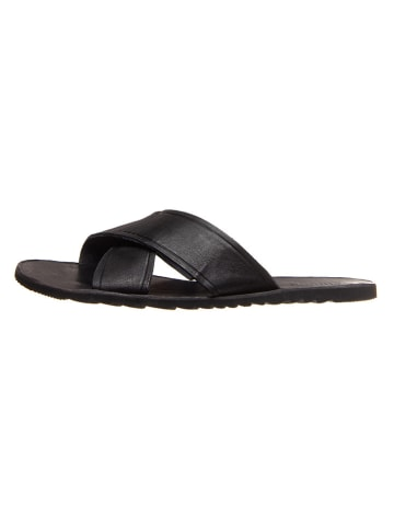 Cinque Leren slippers zwart