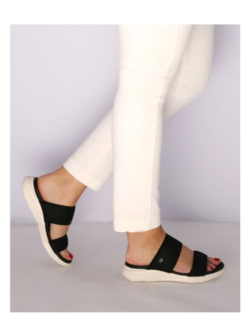 "Mexx Slippers ""Enya"" zwart/crème"