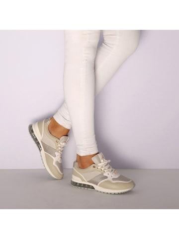 """Mexx Sneakersy """"Eefje"""" w kolorze beżowo-białym"""