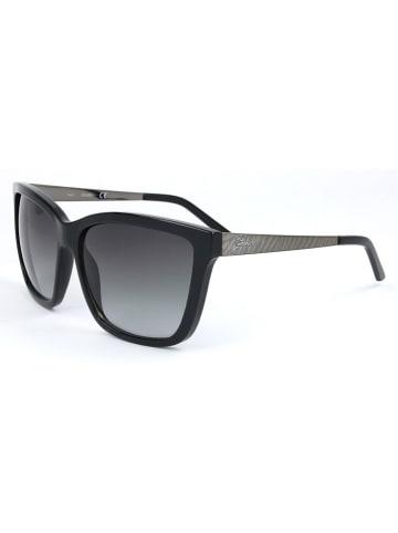 Guess Damskie okulary przeciwsłoneczne w kolorze czarno-srebrno-szarym