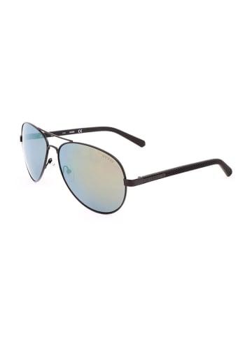 Guess Damen-Sonnenbrille in Schwarz/ Blau-Gelb