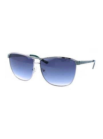 """Guess Okulary przeciwsłoneczne """"GU7369"""" w kolorze srebrno-szarym"""