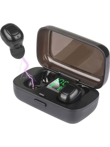 WHIPEARL Bluetooth-In-Ear-Kopfhörer in Schwarz