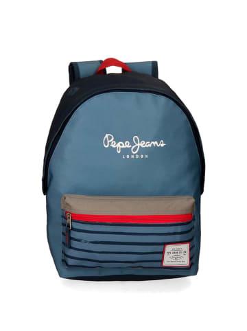 Pepe Jeans Rugzak  blauw - (B)31 x (H)42 x (D)17,5 cm