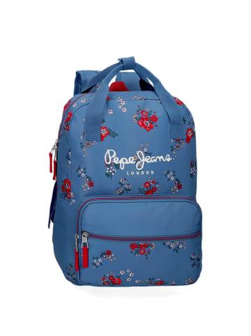 Pepe Jeans Plecak w kolorze niebieskim ze wzorem - (S)30 x (W)40 x (G)13 cm