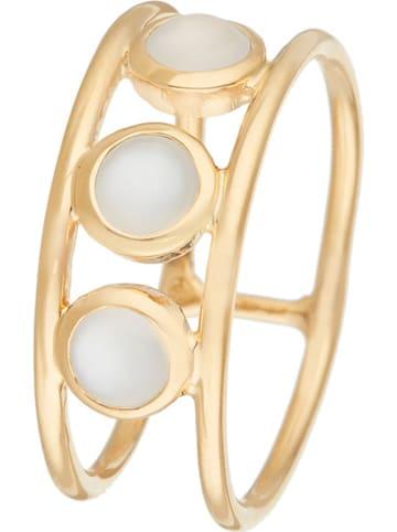 """Jovelli Pozłacany pierścionek """"Barbara"""" z kamieniem księżycowym"""