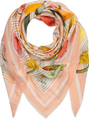Codello Jedwabna chusta w kolorze jasnoróżowym - 120 x 120 cm