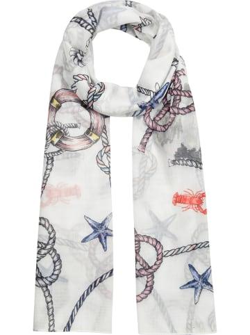 "Codello Szal ""Fashion Sailor"" w kolorze białym - 180 x 55 cm"