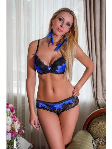 Diva Sharm Push-up beha blauw/zwart
