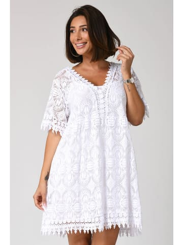 "Plus Size Fashion Kleid ""Fanny"" in Weiß"
