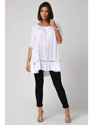 """Plus Size Fashion Tunika """"Talia"""" w kolorze białym"""