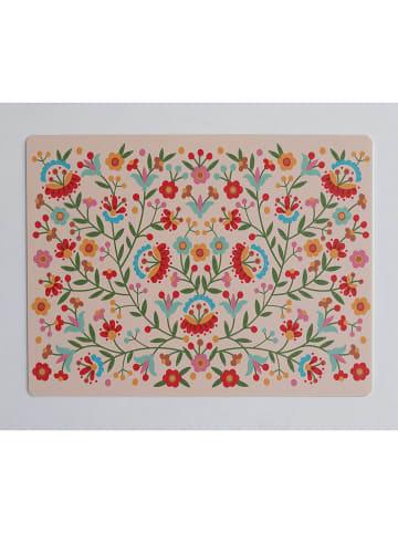 """Little nice things Schreibtischunterlage """"Mexican Flower"""" in Beige/ Bunt - (L)55 x (B)35 cm"""