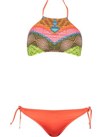 JOLIDON Bikini w kolorze koralowym ze wzorem