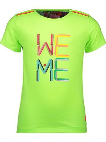 Kidz-Art Koszulka w kolorze limonkowym