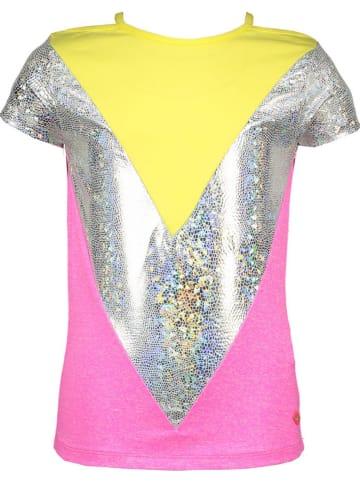 Kidz-Art Koszulka w kolorze różowo-srebrnym