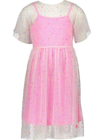Kidz-Art Kleid in Creme/ Pink