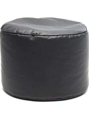 "Sitting Bull Pouf ""Chill Seat"" in Schwarz - (H)35 x Ø 50 cm"