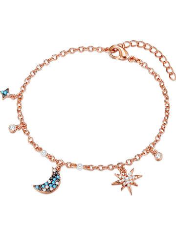 GLAMCODE Rosévergold. Armkette mit Swarovski Kristallen