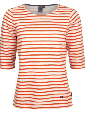 Elkline Sweatshirt in Rot/ Weiß