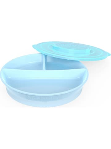 Twistshake Eetleerbord blauw