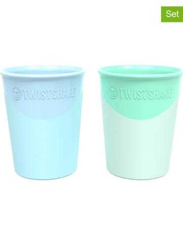 Twistshake Kubek (2 szt.) w kolorze niebieskim i zielonym