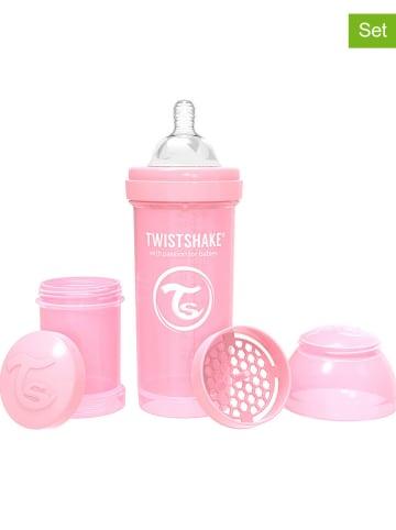 Twistshake 2-delige mengset voor babyvoeding lichtroze