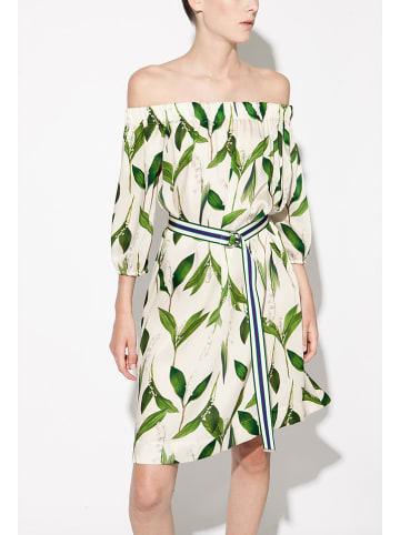 Indies Sukienka w kolorze zielono-kremowym
