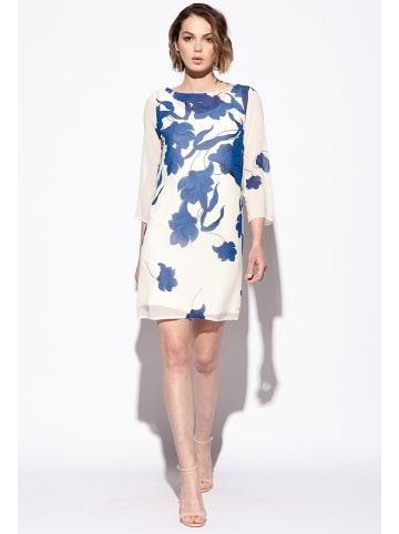 Bleu Blanc Rouge Sukienka w kolorze kremowo-niebieskim