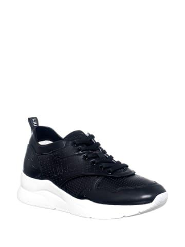 Liu Jo Skórzane sneakersy w kolorze czarnym