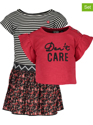 Like Flo 2-delige set: jurk en shirt rood