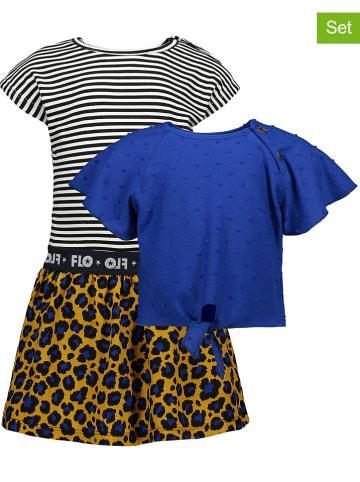 Like Flo 2-delige set: jurk en shirt meerkleurig