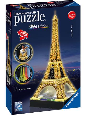 """Ravensburger 216-delige 3D-puzzel """"Eiffeltoren 's nachts"""" - vanaf 12 jaar"""