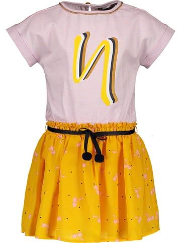 NONO Kleid in Rosa/ Gelb