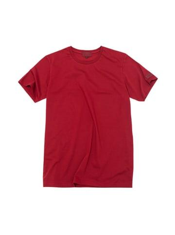 """PLNY T-shirt """"Black"""" w kolorze czerwonym"""