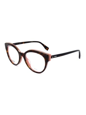 """Fendi Oprawki """"FF0280"""" w kolorze brązowym ze wzorem"""