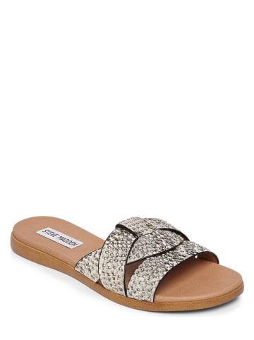 """Steve Madden Leren slippers """"Vivien-S"""" crème/zwart"""